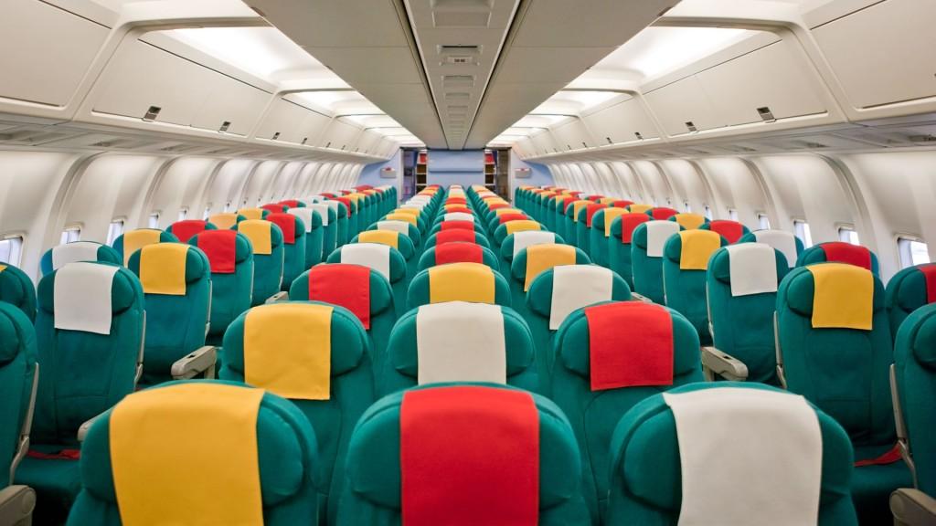 Espacio asiento aviones