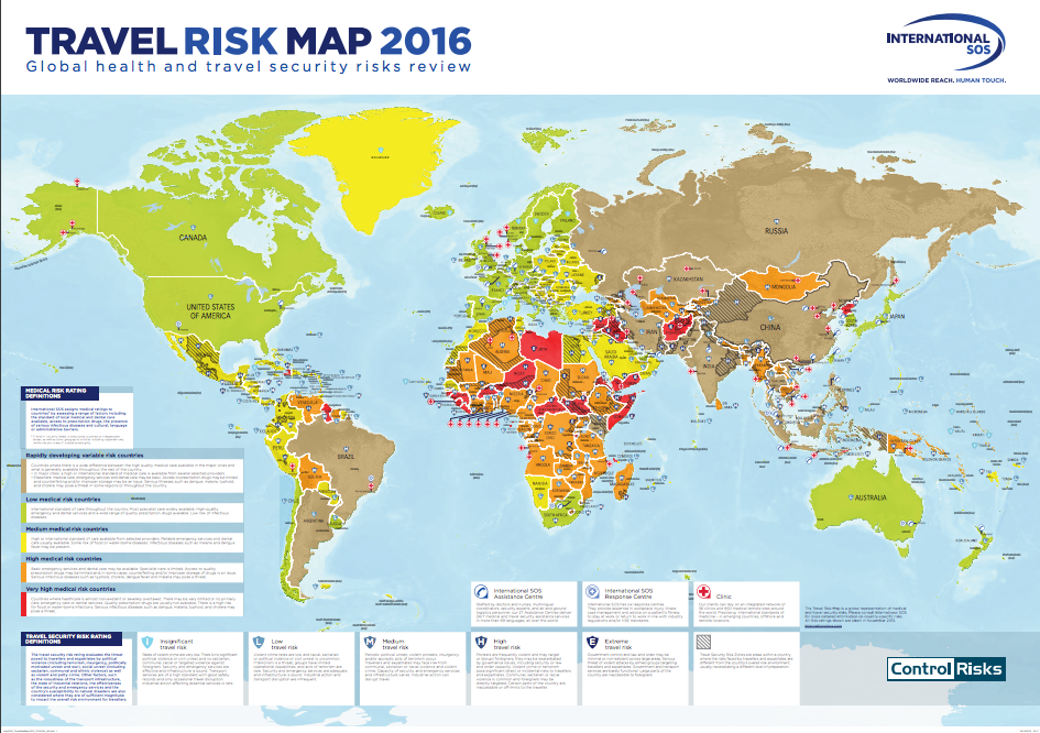 Travel Risk Map International SOS