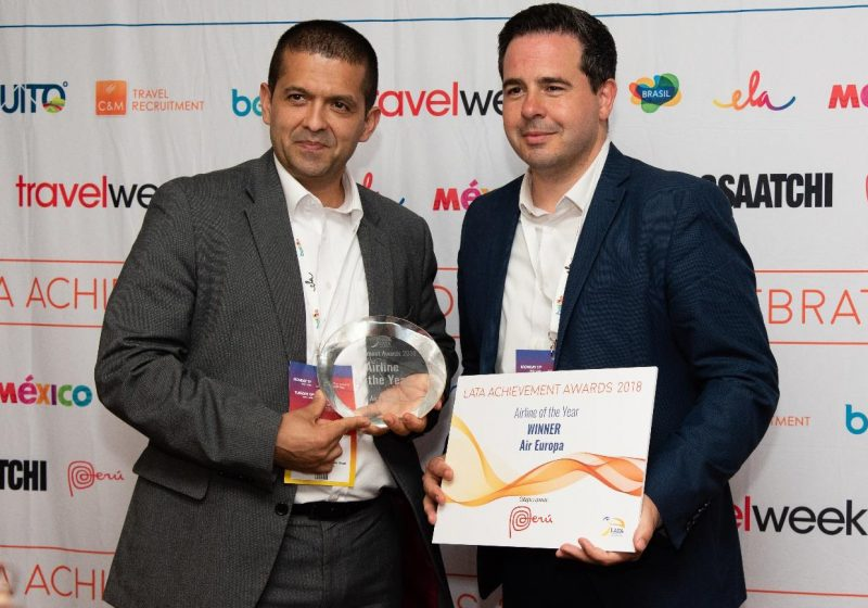 Air Europa, aerolínea del año por la Latin American Travel Association