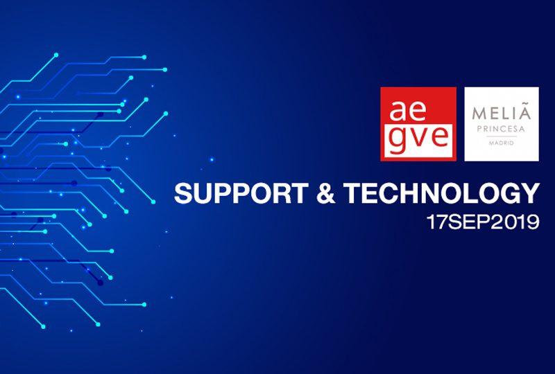 Jornada SUPPORT & TECHNOLOGY de AEGVE, la asociación se pone al día en el sector de la tecnología