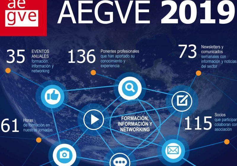 Infografía resumen de AEGVE en 2019