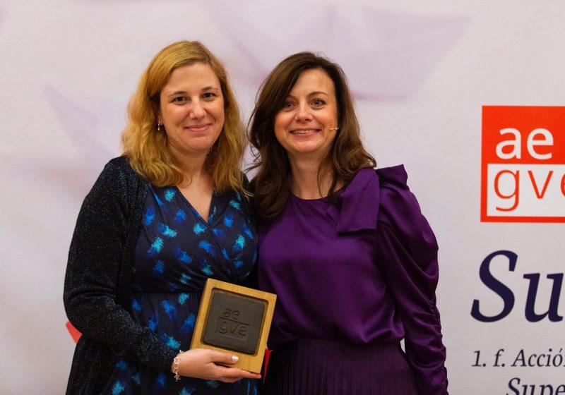 Désirée Russeau, responsable de Logística en Cepsa fue premiada en la Gala de premios AEGVE 2019