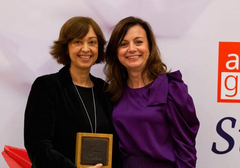 Mayte Tajahuerce, Travel Manager de Enagás fue premiada en la Gala de premios AEGVE 2019